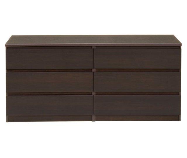 Tvilum Laguna 6 Drawer Double Dresser Multiple Finishes