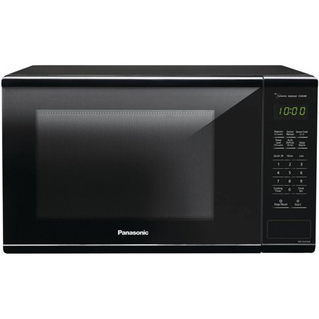 Panasonic 1.3 Cu. Ft. 1100W Microwave Oven Genius Sensor, Black