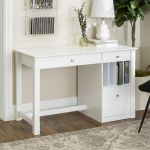 Manor Park Modern Simple Wood Computer Desk White Walmart Canada