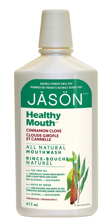 jason healthy mouth cinnamon clove all natural mouthwash
