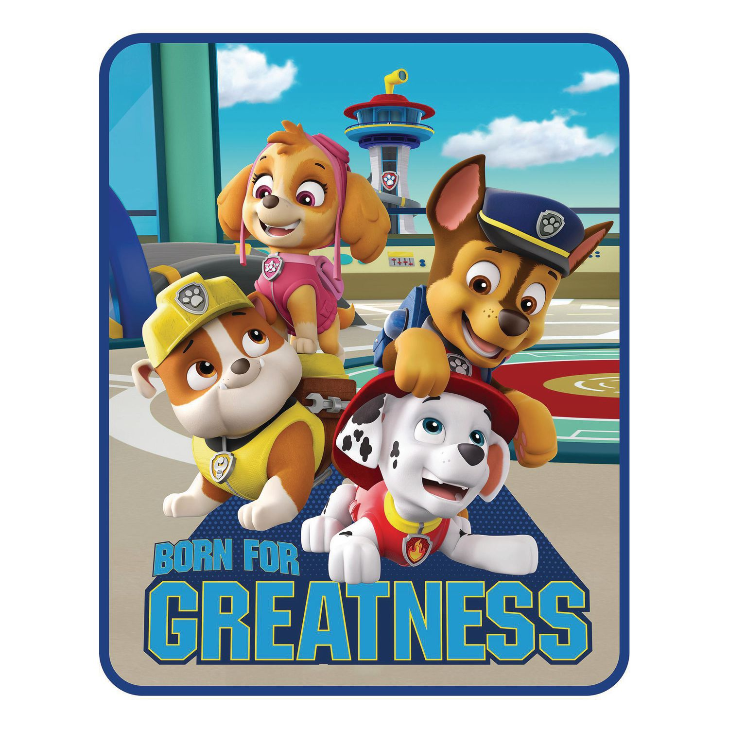 Paw Patrol Boy Great Job Pups Silk Touch Throw