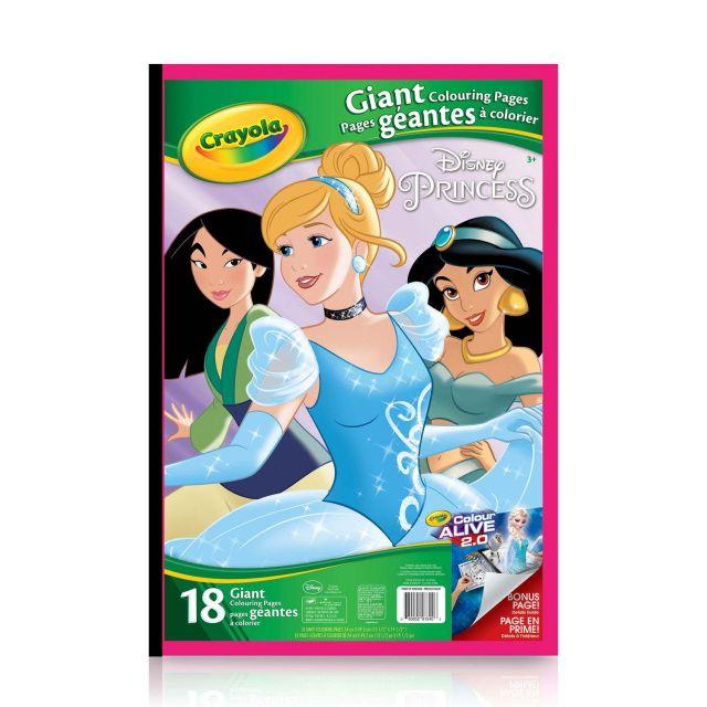 Pages à colorier géantes, Les Princesses Disney