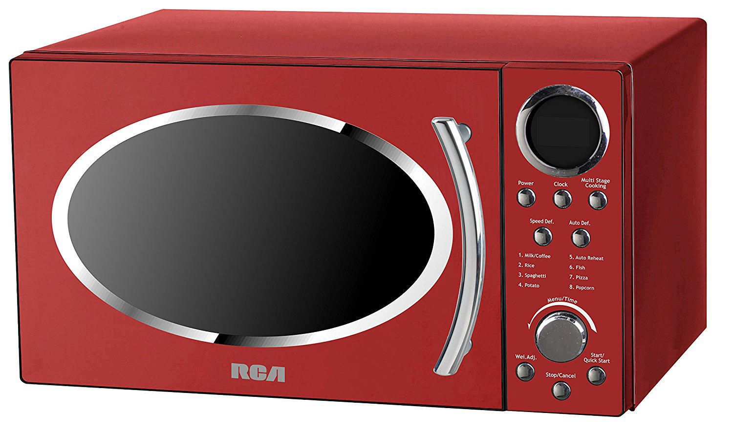 rca rmw987 red 0 9 cu ft retro microwave red