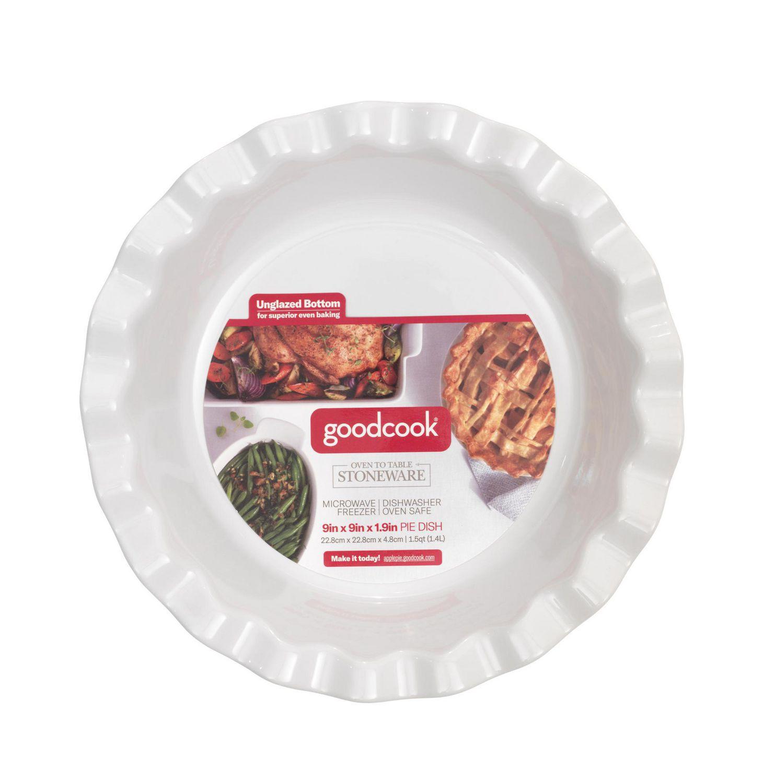 plat a tarte en ceramique goodcook 9 x 9 x 1 9 po 1 5 pinte