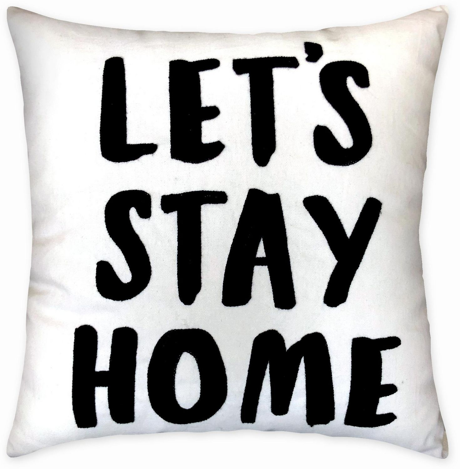 hometrends lets stay home decorative pillow