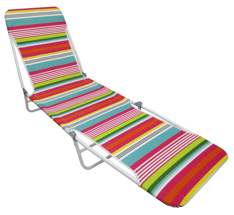 chaise longue de plage pliante