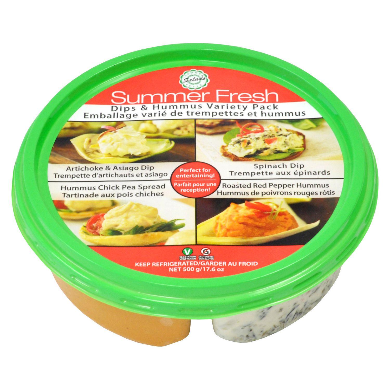Summer Fresh Roasted Garlic Hummus Nutrition