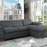 Bentley Sectional With Pull Out Bed Storage Chaise Grey Walmart Canada