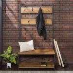 Manor Park Farmhouse Entry Bench And Mudroom Hall Tree With Hooks Walmart Canada
