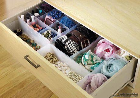 contenants de rangement mainstays pour tiroir en plastique en paq de 6