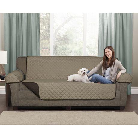 Mainstays Microfiber Reversible Sofa Pet Cover Walmartca
