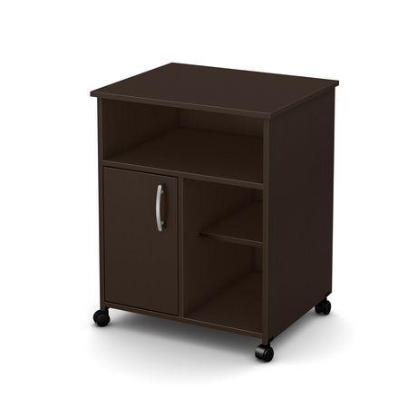 meuble pour micro ondes sur roulettes collection fiesta de meubles south shore