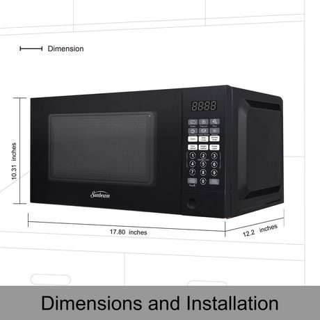 sunbeam 0 7 cu ft microwave oven