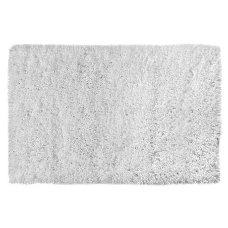 handwoven microfibres shaggy tapis de bain blanc 20 x 32