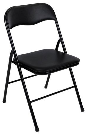 Cosco Vinyl Folding Chair Black Walmart Canada