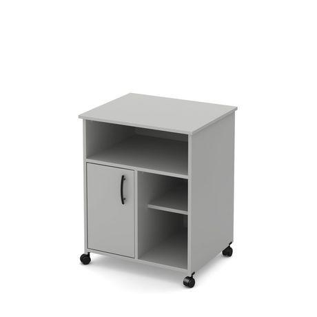 meuble pour micro ondes sur roulettes smart basics de meubles south shore