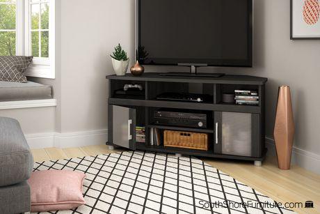 meuble en coin pour televiseurs jusqu a 50 po collection city life de meubles south shore
