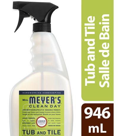 mrs meyer s clean day bathroom tub tile cleaner lemon verbena 976ml