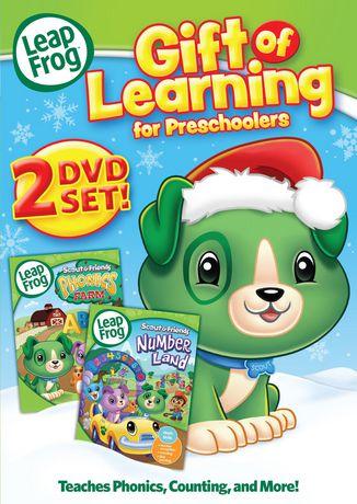 LEAPFROG GIFT OF LEARNING FOR PRESCHOOLERS 2 DVD SET