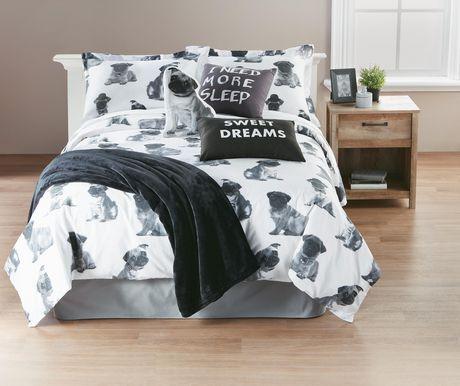 Hometrends Pug Duvet Cover Set Walmart Canada