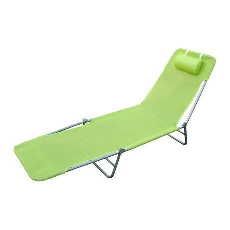 outsunny reglable inclinable chaise longue de plage
