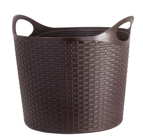 Mainstays Oval Flex Wicker Laundry Basket Walmartca
