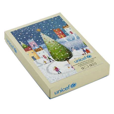 Hallmark UNICEF Town Christmas Tree French Language Boxed