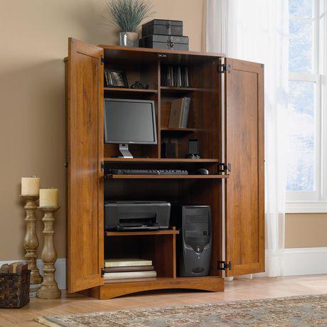 armoire d ordinateur oak de sauder abbey
