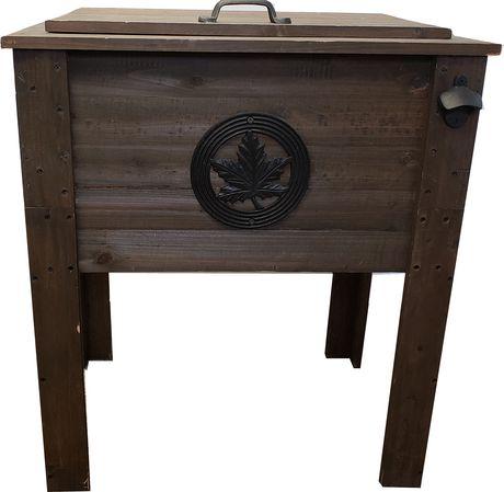 53qt rustic wood cooler