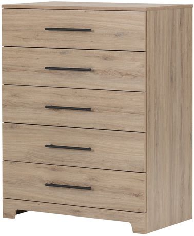 commode a 5 tiroirs en noyer primo de meubles south shore walmart canada