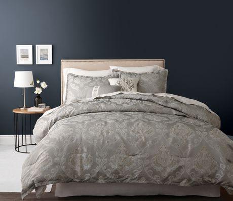 Hometrends Gold And Silver Lines Comforter Set Walmart Ca