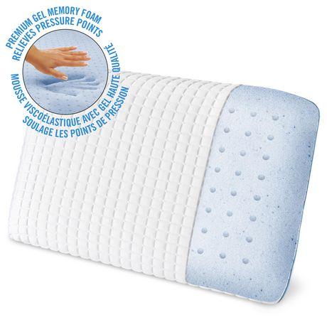 homedics triple cool gel memory foam bed pillow