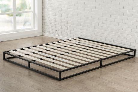 zinus 6 pouces platforma profil bas cadre de lit fondation de matelas structure en acier forte lattes en bois facile a assembler