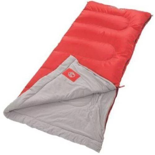 Coleman 50° F Rectangle Adult Sleeping Bag, Red