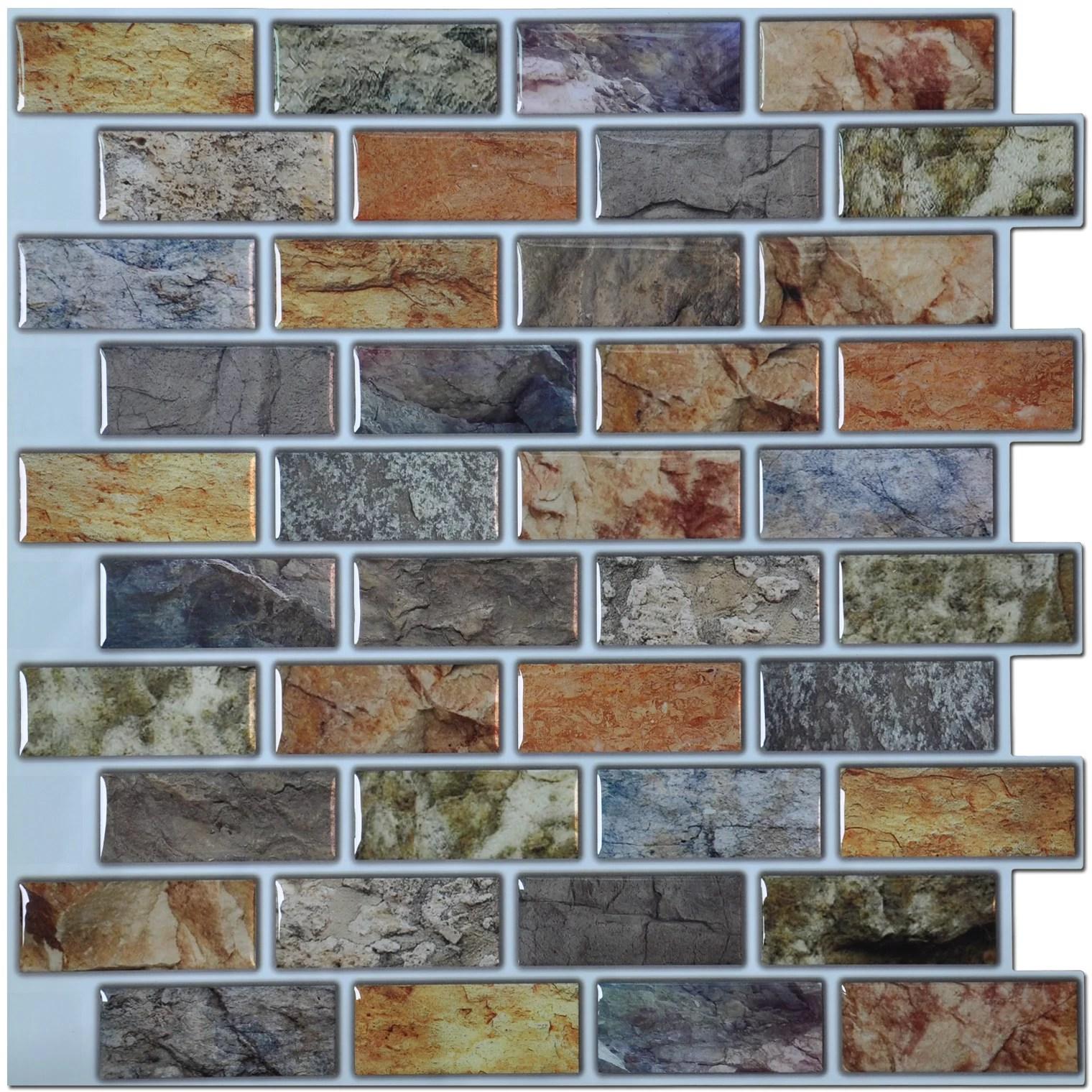 Art3d Backsplash Peel N Stick Tiles Kitchen Bathroom Backsplash Tiles 12 X 12 Pack Of 6 Walmart Com Walmart Com