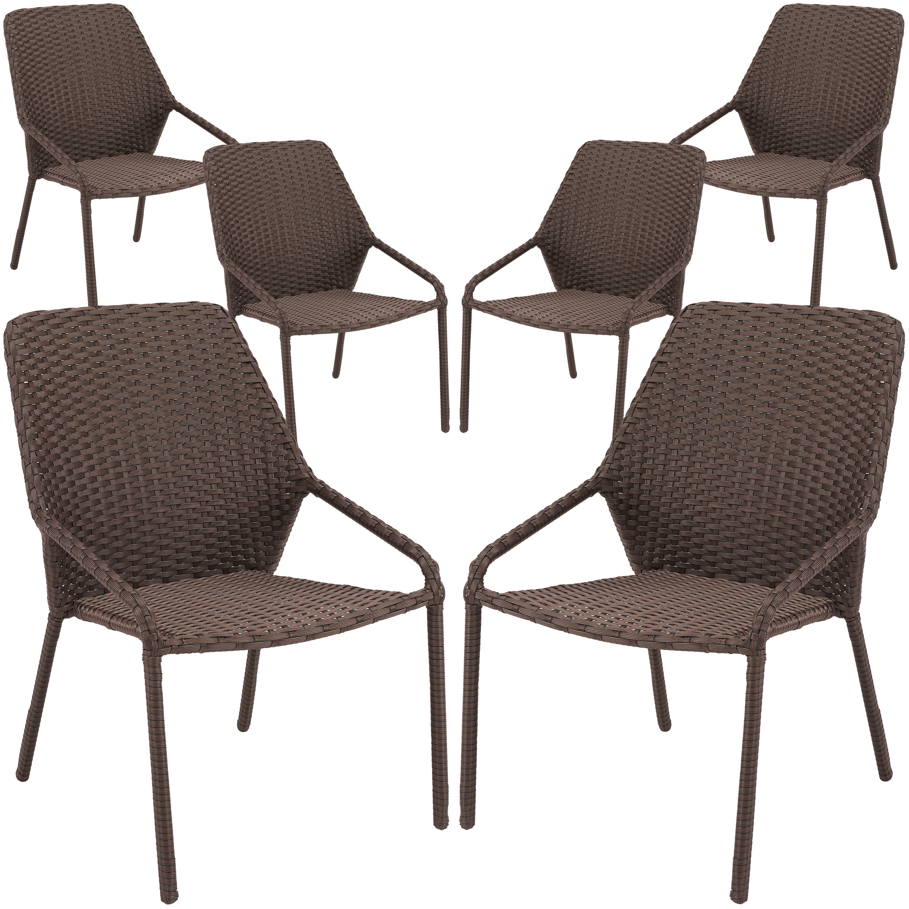 mainstays danella outdoor patio wicker dining chairs set of 6
