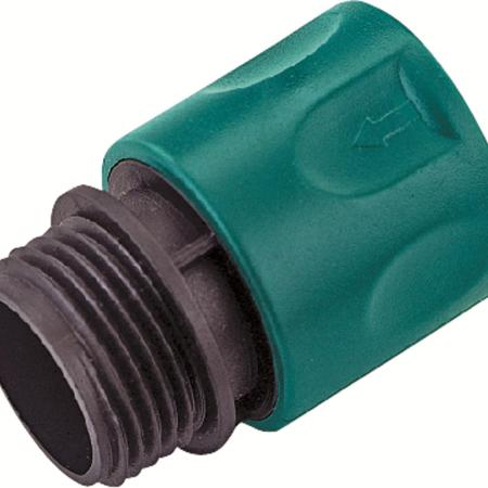Mintcraft GC522 Hose Quick Connector, 3/4 in, Male Thread, Plastic