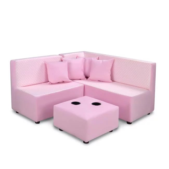 7 piece kids sectional set mini dot bella pink with bubblegum walmart com