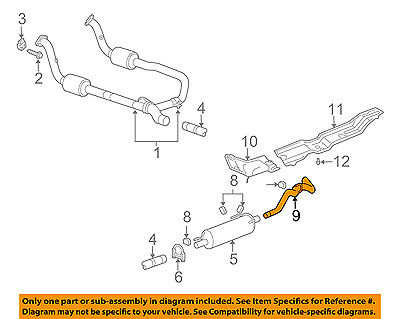 dodge chrysler oem 03 09 ram 2500 5 7l v8 exhaust system tail pipe 52122020aa