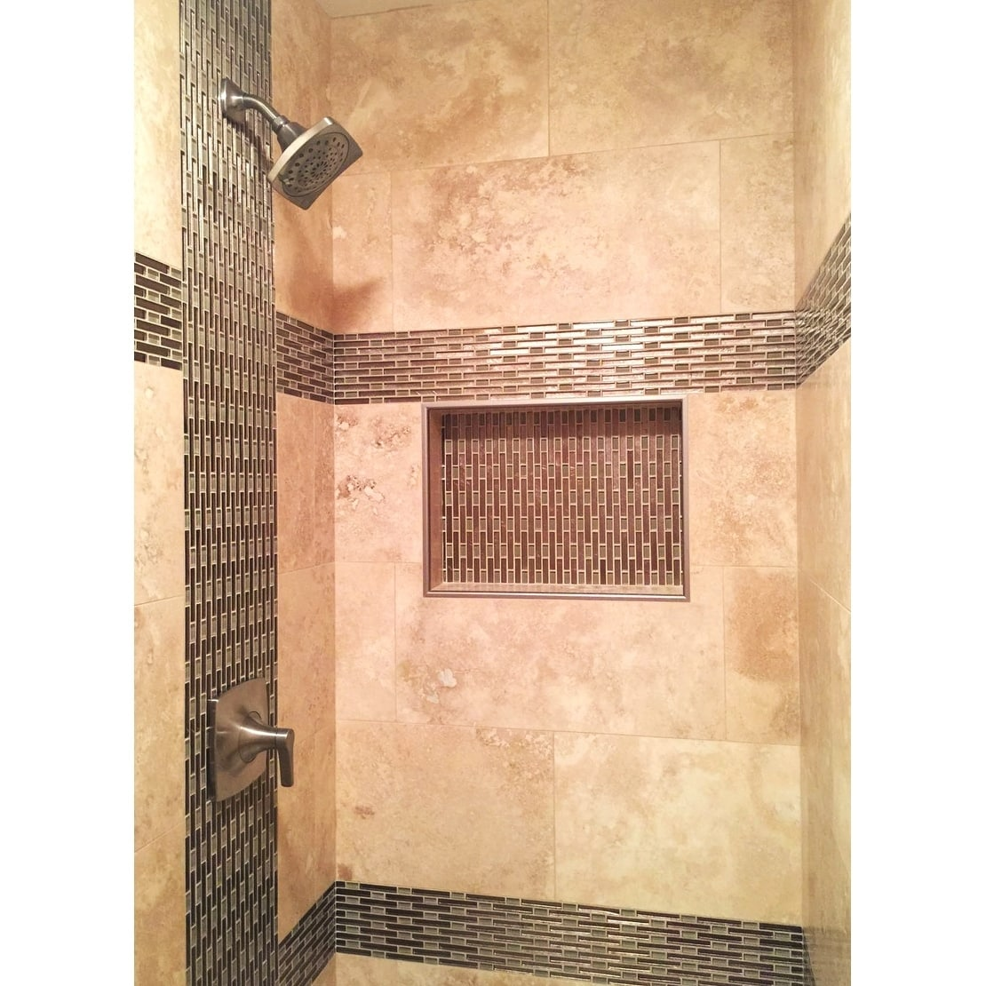 ready for tile leak proof 17 x 25 rectangular bathroom recessed shower shelf shower niche storage for shampoo and toiletry