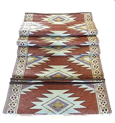 9 x12 indoor outdoor plastic straw rug reversible patio camping rug mat 202300