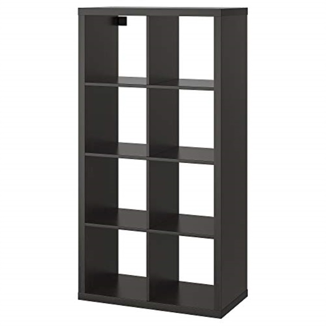 ikea 202 758 85 kallax shelf black brown