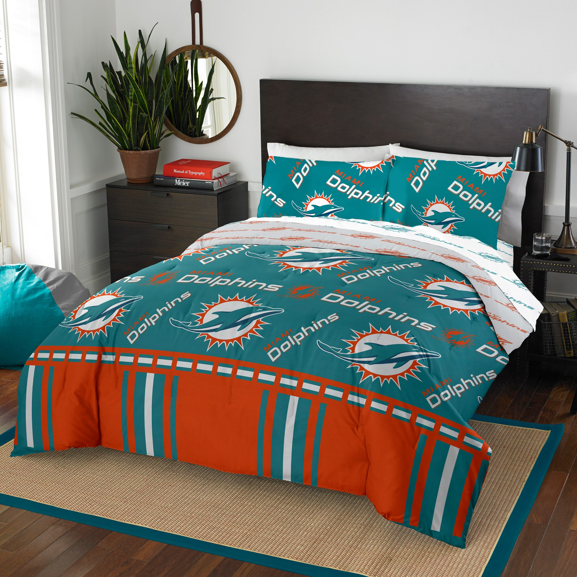 miami dolphins the northwest company 5 piece queen bed in a bag set walmart com