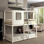 Furniture Of America Hansel Playhouse Twin Over Twin Bunk Bed Walmart Com Walmart Com