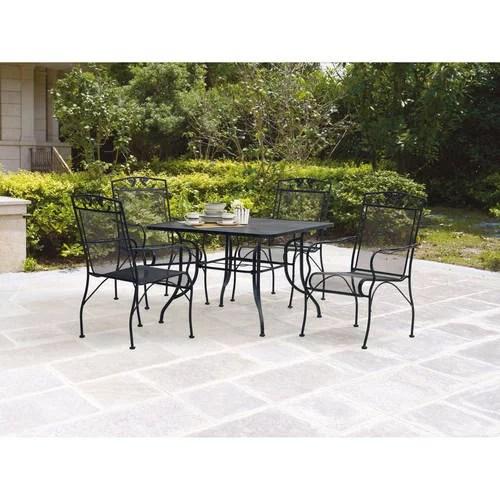 mainstays jefferson outdoor patio dining set wrought iron 5 piece