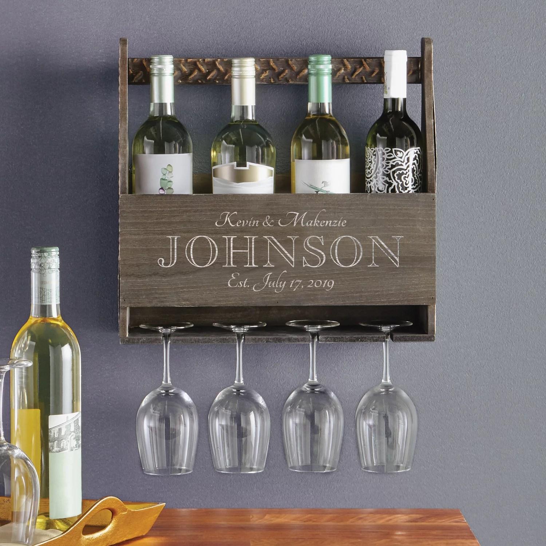 personalized a toast to love wood wine rack walmart com