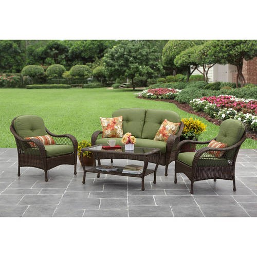 better homes and gardens azalea ridge 4 piece patio conversation set seats 4