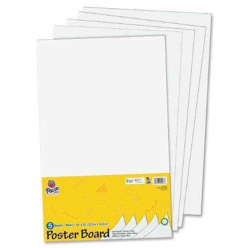 pacon half size sheet poster board pac5443 model pac5443 office shop great for making small posters signs announcements charts and art