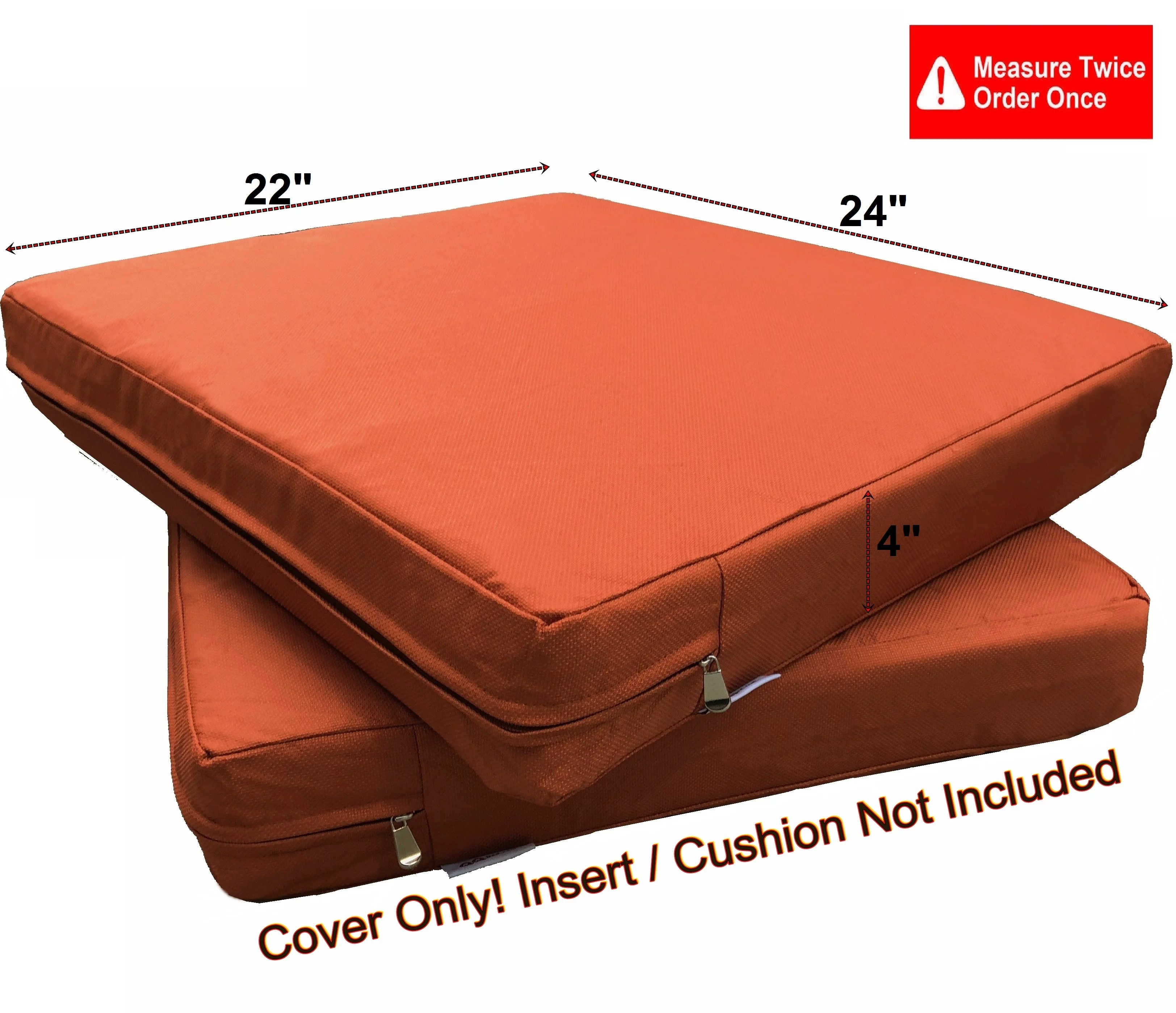 outdoor large chair seat covers only
