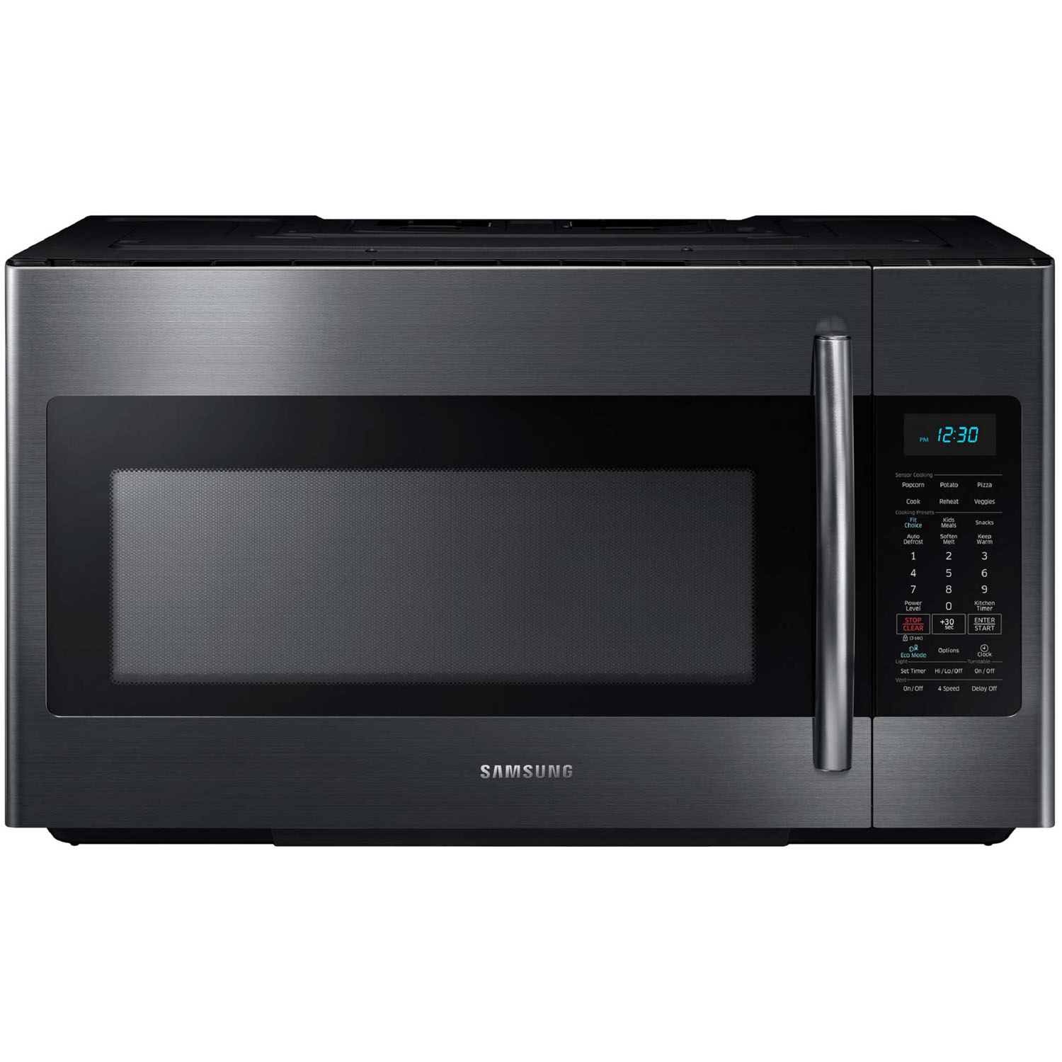 samsung 1 8 cu ft over the range microwave black stainless